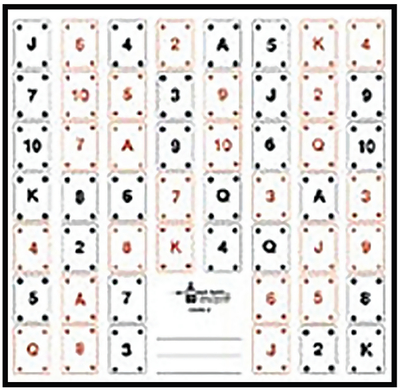 ACTION TARGET INC CARD-1-100 Playing Card #1 Paper 22.50in. x 24.00in. 52 Playing Cards Black/Red 100