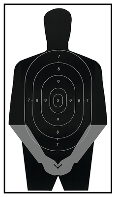 ACTION TARGET INC PIC-06-100 PIC-06 Gag Target Hanging Paper 23in. x 35in. Silhouette Black 100 Per Box