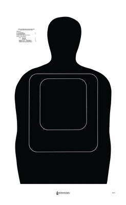 ACTION TARGET INC TQ5BLACK100 TQ-15 Training Target Hanging Paper 24in. x 45in. Silhouette Black 100 Per Box