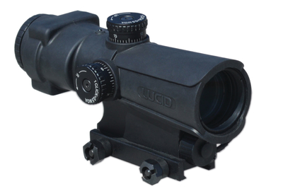 LUCID OPTICS P7 Combat Optic, Fixed 4X, P7 Reticle, Matte Black Finish L-4X-P7