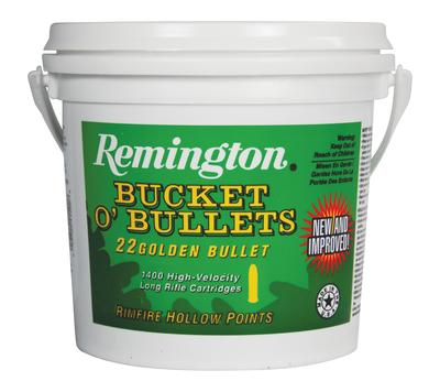 Remington Ammunition 1622B Golden Bullet 22 LR 36 GR Plated Hollow Point 1400 Bx/ 4 Cs