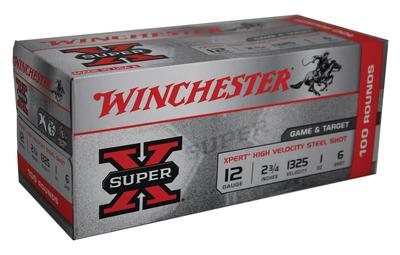 Winchester Ammo WE12GTVP6 Super X Xpert High Velocity 12 Gauge 2.75in. 1 oz 6 Shot 100 Bx/ 2 Cs