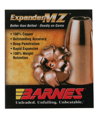 Barnes 30569 Muzzleloader 50 Black Powder Expander MZ 300 GR 15Pk