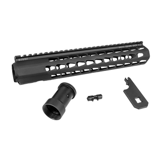 Advanced Armament 64273 Squaredrop Handguard AR-15 11.2 Aluminum Black Anodized in.