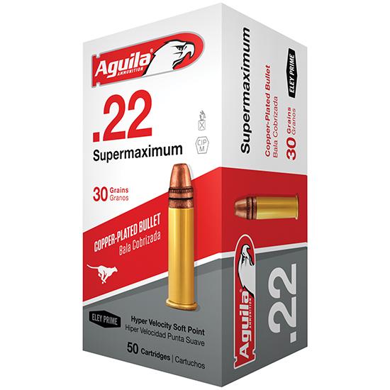 Aguila 1B222298 Super Maximum 22 Long Rifle (LR) 30 GR Solid Point 50 Bx| 100 Cs