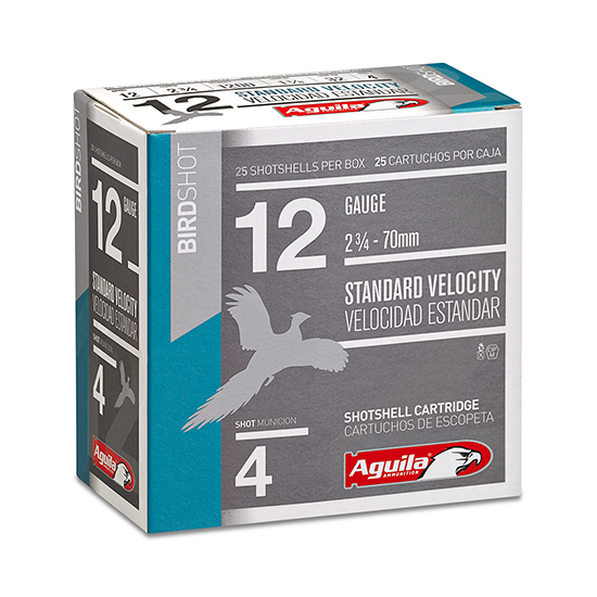 Aguila 1CHB1218 Hunting Standard Velocity 12 Gauge 2.75 1-1|8 oz 8 Shot 25 Bx| 10 in.