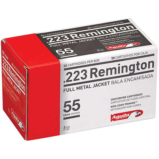 Aguila 1E223110 223 Remington 55 GR Full Metal Jacket 50Bx|20Cs