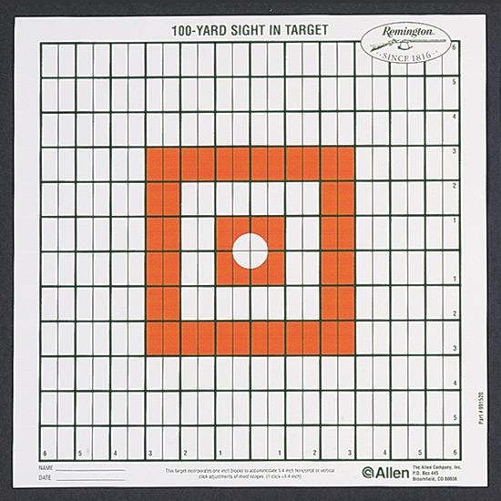 Allen Company Grid Style 100-Yard Sight-In Target 12PK 1520