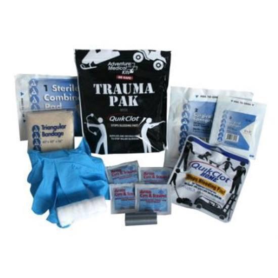 Adventure Medical Kits 20640292 Sportsman Trauma Pak Kit w/ QuickClot Black w/White Accents