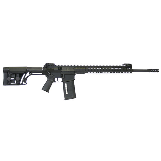 ArmaLite AR10TAC20 AR-10 Tactical Rifle Semi-Automatic 308 Winchester|7.62 NATO 20 FH 25+1 MBUS MBA-1 Stk Blk Hard Coat Anodized|Phosphate in.