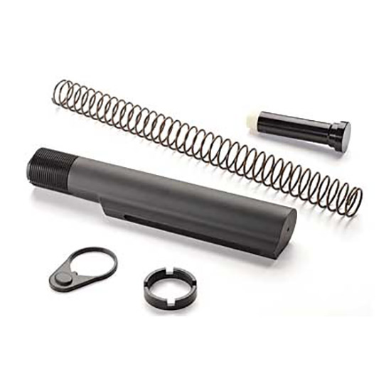Advanced Technology A5102240 AR-15 Buffer Tube Assembly Mil-Spec Aluminum Black Hardcoat Anodized