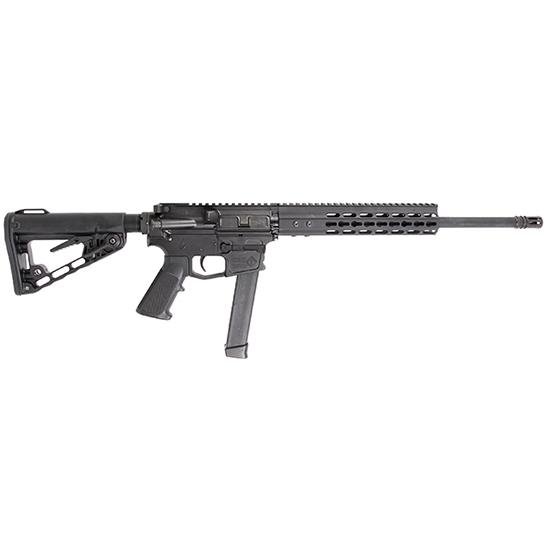 ATI G15MS9KM16 Mil-Sport AR-15 Semi-Automatic 9mm Luger 16 31+1 6-Position Rogers Super-Stoc Black Stk Black in.