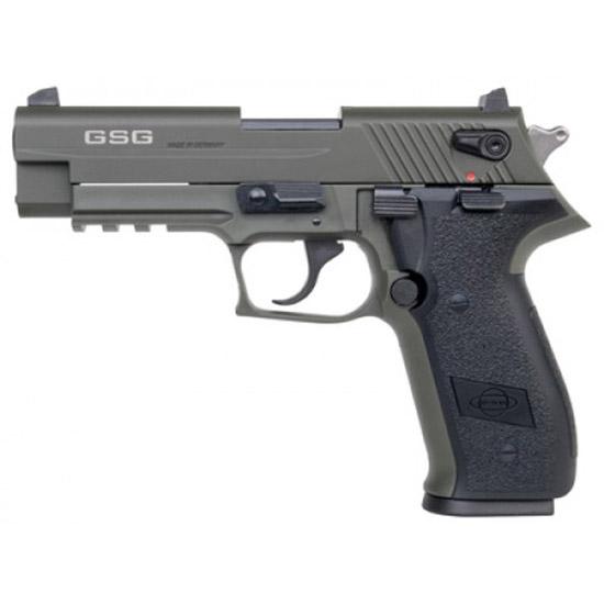 GSG German Sports Guns GERG2210FFG FireFly Single Double 22 Long Rifle (LR) 4 10+1 Walnut Grip Green Zinc Alloy in.