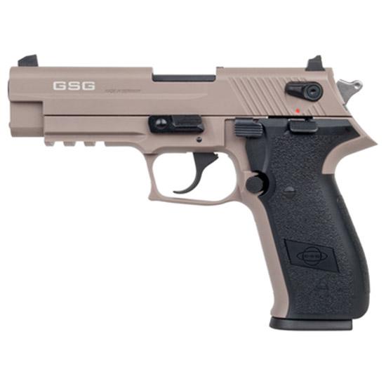 GSG German Sports Guns GERG2210FFT FireFly Single Double 22 Long Rifle (LR) 4 10+1 Black Polymer Grip Tan Zinc Alloy in.