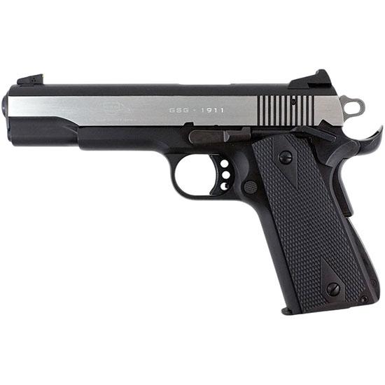GSG German Sports Guns 2210M1911S GSG-M1911S 22 LR Single 22 Long Rifle (LR) 5 10+1 Black Polymer Grip Black Hard Coat Anodized in.