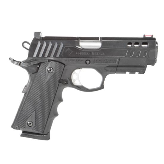 American TacticalGFXH9C FX9 Hybrid 9mm Luger 4.25in. 10+1 Black Nitride Steel Black Polymer Grip