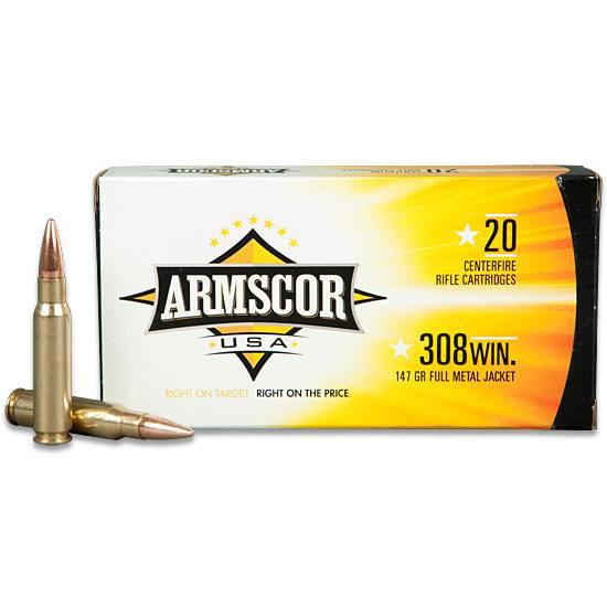 Armscor 308 168GR FMJ