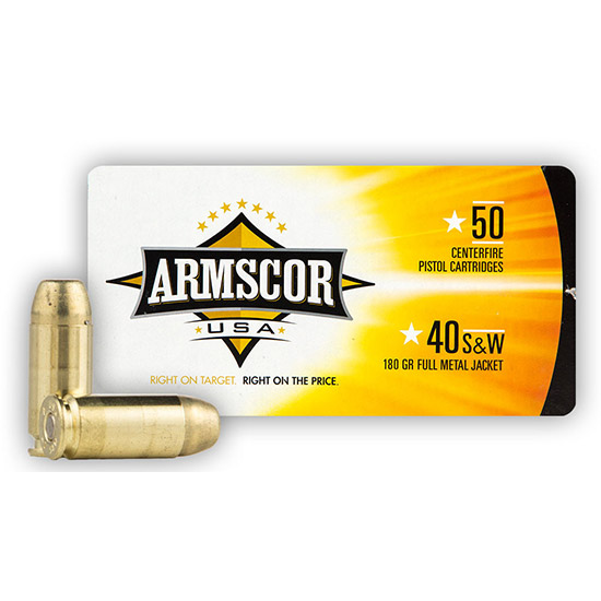 Armscor JHP 180 Grain Brass .40 SW 20Rds