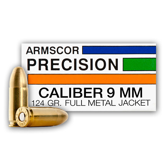 Armscor JHP 124 Grain Brass 9mm 20Rds