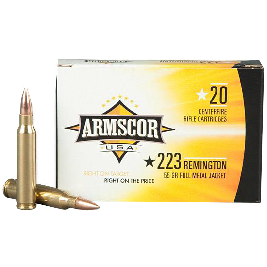 Armscor USA .223 Remingtom Ammunition 55gr 20 Rounds FMJ