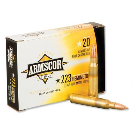 Armscor FAC22355GRVT 223 Remington/5.56 NATO 55 GR Varmint 20 Bx/ 10 Cs