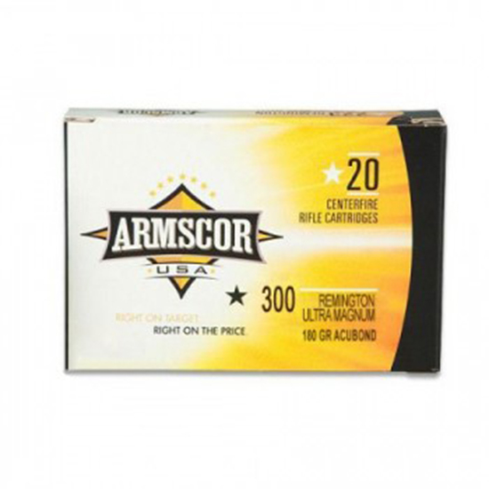 Armscor 180Gr Accubond Brass .300 RUM 20Rds