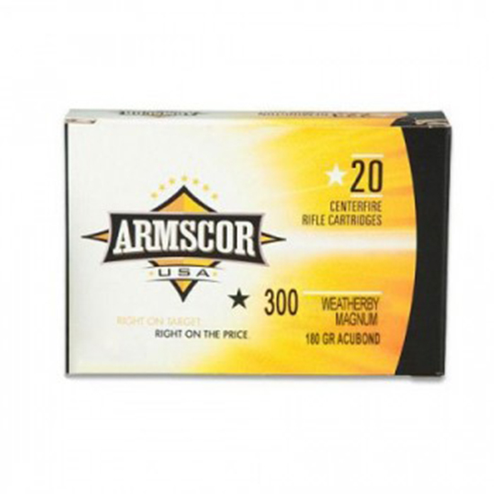 Armscor 180Gr Accubond Brass .300 WBY 20Rds