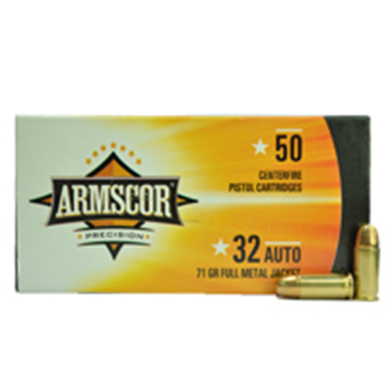 Armscor 32ACP 71GR FMJ 50 ROUNDS