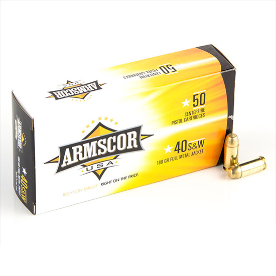 Armscor FMJ 180 Grain Brass .40 SW 50Rds