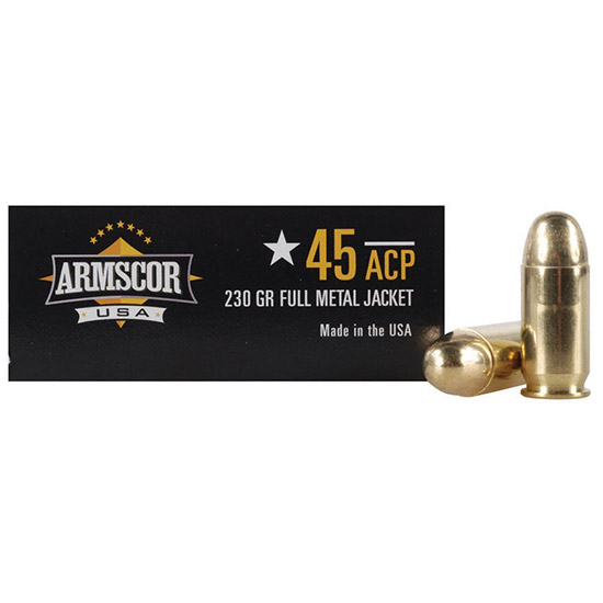 Armscor FMJ 230 Grain Brass .45 ACP 50Rds