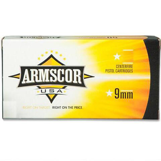 Armscor FAC92N 9mm Luger 115 GR Full Metal Jacket 50 Bx| 20 Cs