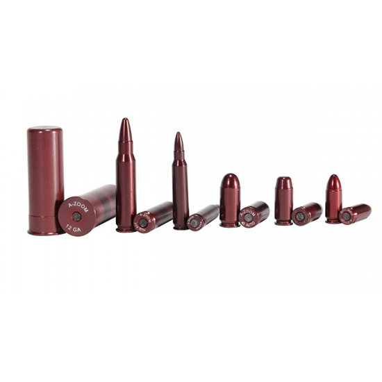 A-Zoom 16185 Snap Caps Military 9mm|40S&W|45ACP|.223|.308 Aluminum 12
