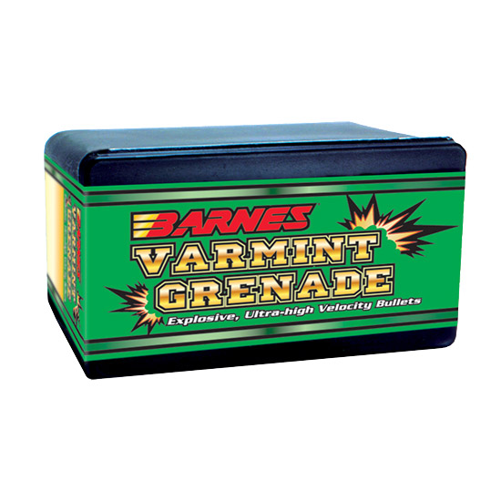 Barnes Bullets 30090 Varmint Grenade 20 Caliber .204 26 GR Flat Base Hollow Point 100 Box