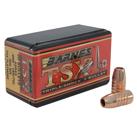Barnes Bullets 30630 Rifle 45|70 Caliber .458 300 GR TSX FB 20 Box
