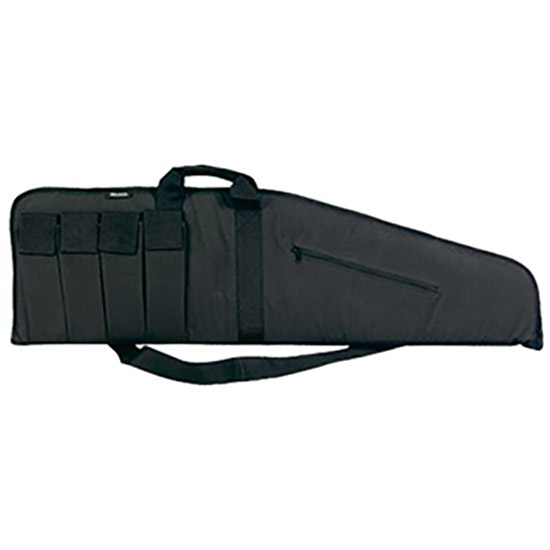 Bulldog BD420 Floating Extreme Tactical Rifle Case 45 4 Mag Pockets Nylon Blk in.