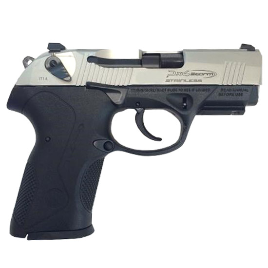 Beretta USA JXC9F51 Px4 Storm Compact Inox Single|Double 9mm Luger 3.27 15+1 Black Interchangeable Backstrap Grip Stainless Steel in.