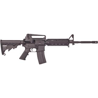 Bushmaster 90831 XM-15 Patrolmans Quad Rail Carbine Semi-Automatic 223 Remington|5.56 NATO 16 30+1 6-Position Black Stk Black in.