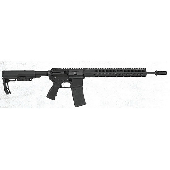 Bushmaster 90924 Minimalist SD Semi-Automatic 300 AAC Blackout|Whisper (7.62x35mm) 16 30+1 Mission First Tactical Stk Black Melonite in.