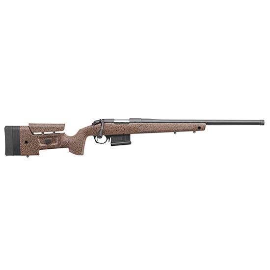 Bergara Rifles B14S354 B-14 HMR Bolt 22-250 Remington 24 5+1 Synthetic|Mini-Chassis Brown Stk Blued in.
