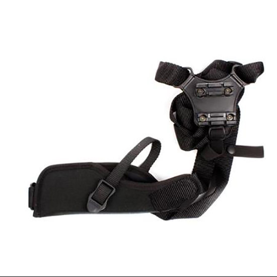 Blackhawk 40VH01BKR Vertical Shoulder Holster Adjustable 3-4 Barrel Medium Auto Cordura Black in.
