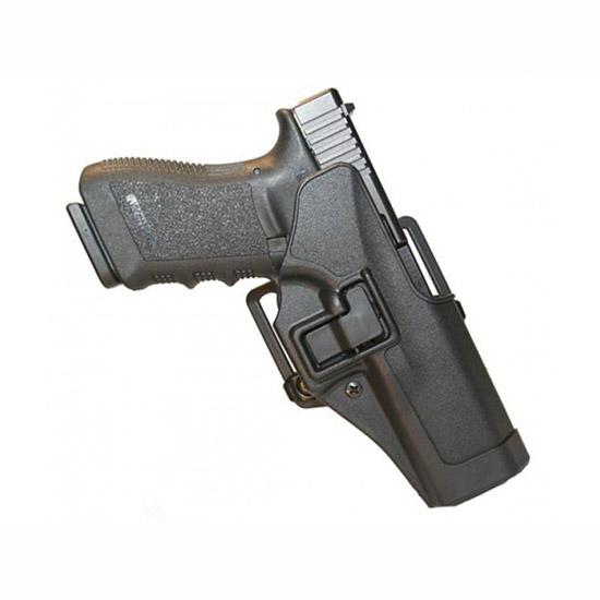 Blackhawk 410501BKR Serpa CQC Concealment Sz 01 Glock 26|27|33 Polymer Black