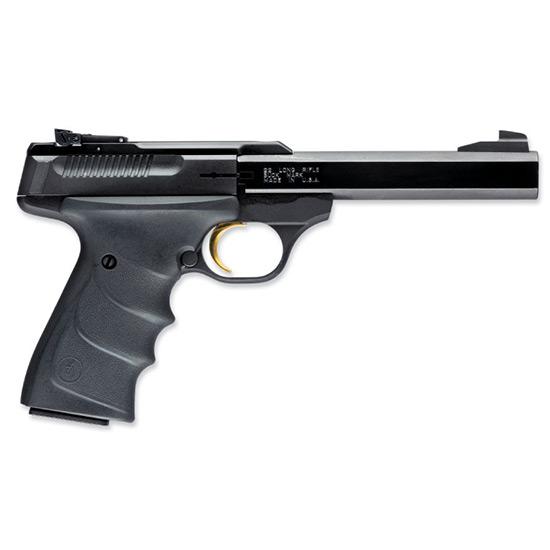 Browning 051407490 Buck Mark Standard *CA Compliant* 22 Long Rifle (LR) Single 5.5 10+1 Black Ultragrip RX Grip Blued Aluminum Alloy Frame Slide in.