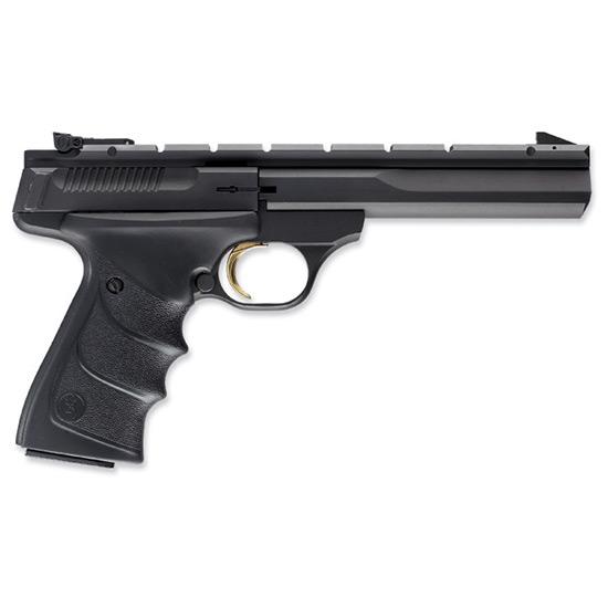 Browning 051421490 Buck Mark Contour *CA Compliant* 22 Long Rifle (LR) Single 5.5 10+1 Black Ultragrip RX Grip Black Aluminum Alloy Frame Slide in.