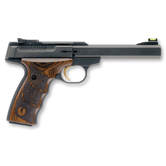 Browning 051428490 Buck Mark Plus *CA Compliant* 22 Long Rifle (LR) Single 5.5 10+1 Walnut Ultragrip DX Grip Black Aluminum Alloy Frame Slide in.