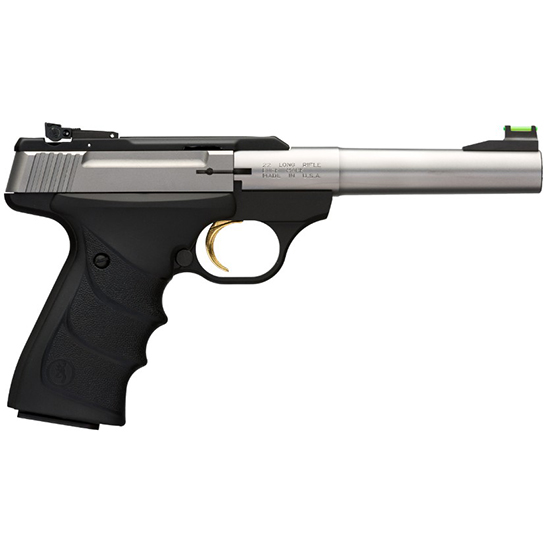 Browning 051442490 Buck Mark Camper *CA Compliant* Single 22 Long Rifle (LR) 5.5 10+1 Black Ultragrip RX Grip Stainless Steel in.
