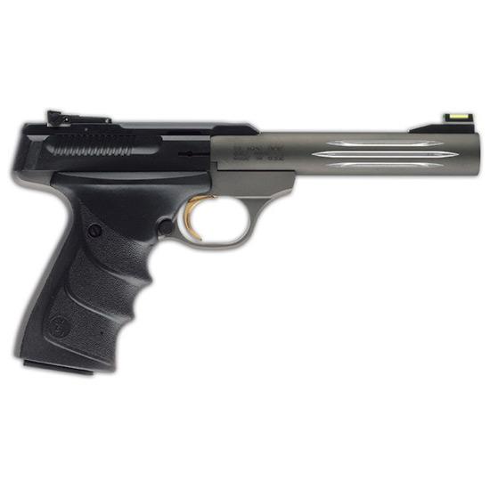 Browning 051461490 Buck Mark Lite *CA Compliant* 22 Long Rifle (LR) Single 5.5 10+1 Black Ultragrip RX Grip Gray Aluminum Alloy Frame Black Aluminum Alloy Slide in.
