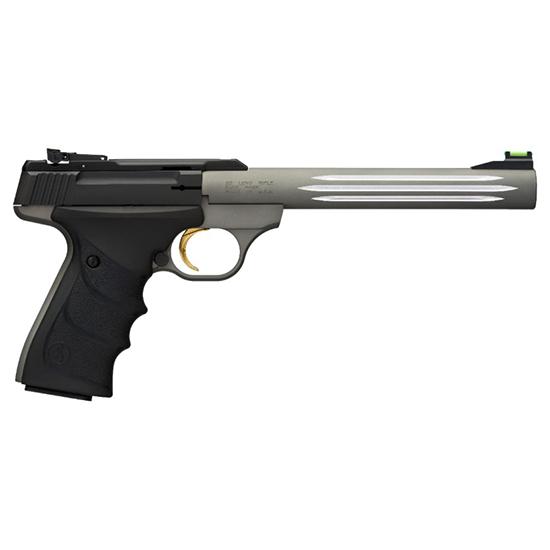 Browning 051462490 Buck Mark Lite *CA Compliant* 22 Long Rifle (LR) Single 7.25 10+1 Black Ultragrip RX Grip Gray Aluminum Alloy Frame Black Aluminum Alloy Slide in.