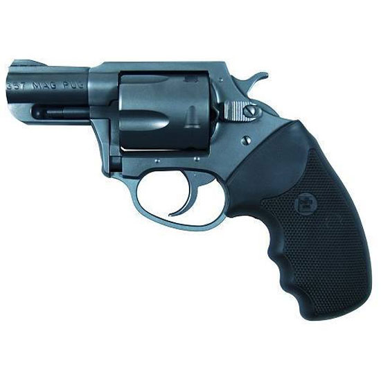 Charter Arms 13520 Mag Pug Standard Revolver Single Double 357 Magnum 2.2 5 Rd Black Rubber Grip Black in.