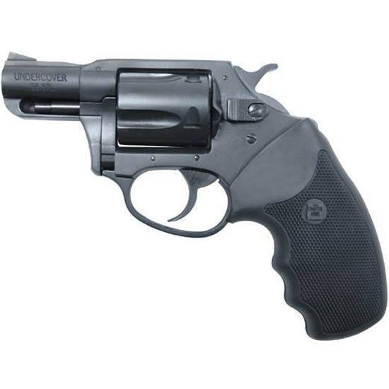Charter Arms 13820 Undercover Standard Revolver Single Double 38 Special 2 5 Rd Black Rubber Grip Blued in.