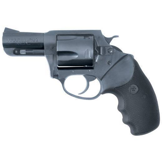 Charter Arms 14420 Bulldog Standard Revolver Single Double 44 Special 2.5 5 Rd Black Rubber Grip Blued in.